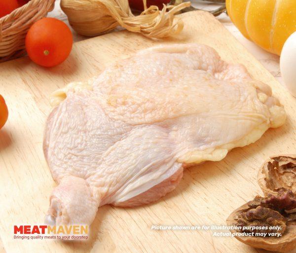 Chicken Leg Boneless with Skin - Raw sample