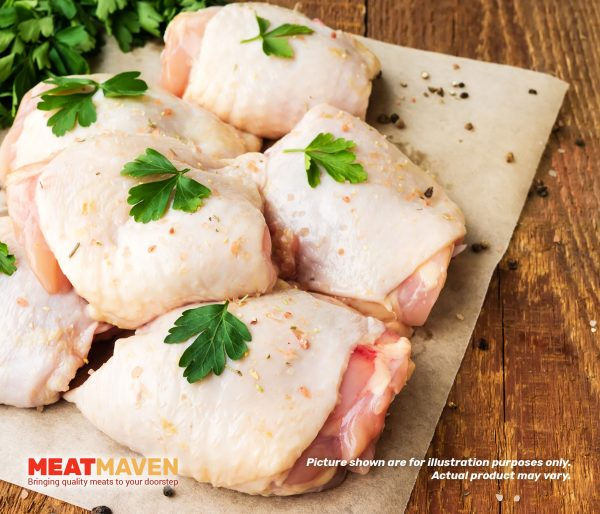 Chicken Thigh with Bone and Skin - Raw sample