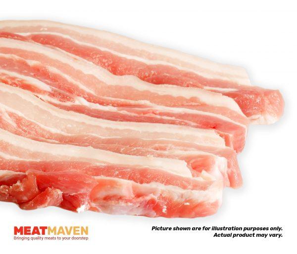 Pork Belly Strips - Raw sample