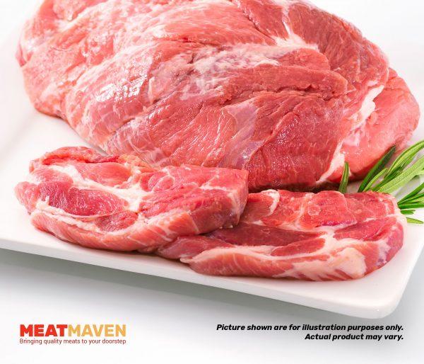 Pork Collar Sliced - Raw sample