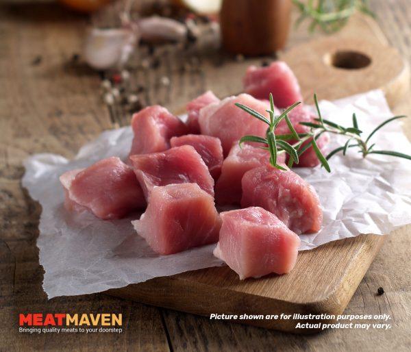 Pork Cube - Raw sample