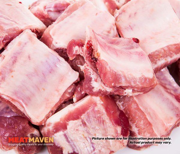 Pork Meaty Riblet - Raw sample