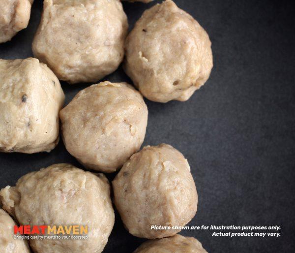Pork Premium Balls - Cooked sample