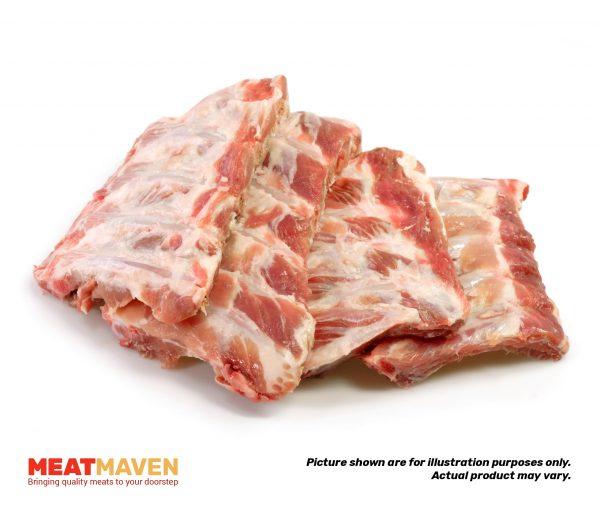 Pork Spareribs Whole - Raw sample