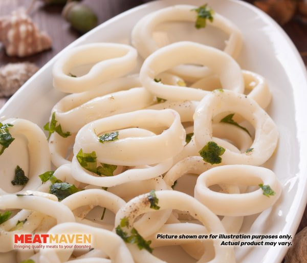 Seafood IQF Sotong Ring - Raw sample